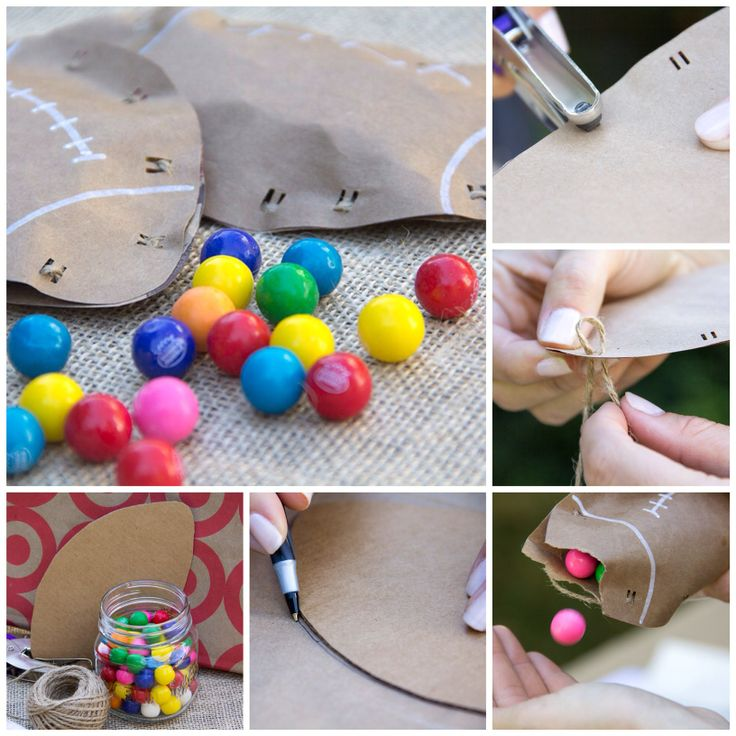 Diy Craft Ideas For Toddlers: Football Treat Bags/ Moonfrye DIY/ Kids Crafts/ Superbowl