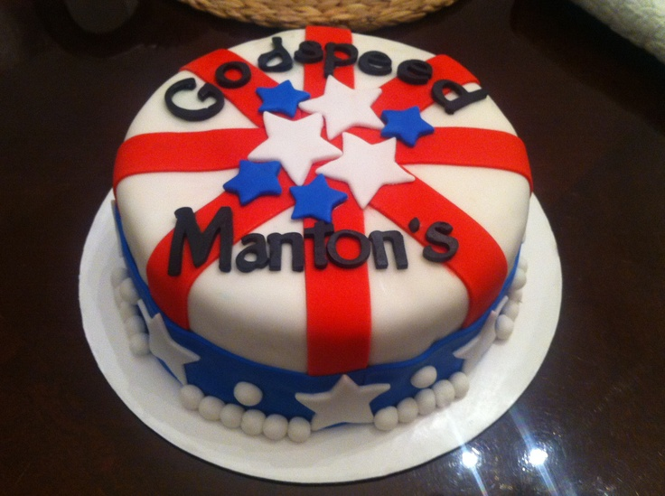 American Flag Cake  Fondant and gum paste  www.doughmommas.com Dough Momma's Cake Pops and Bakery