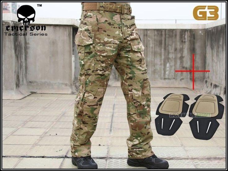 Købt: EMERSON G3 Combat Pants with Knee Pads (Multicam) (Size optional) EM8527