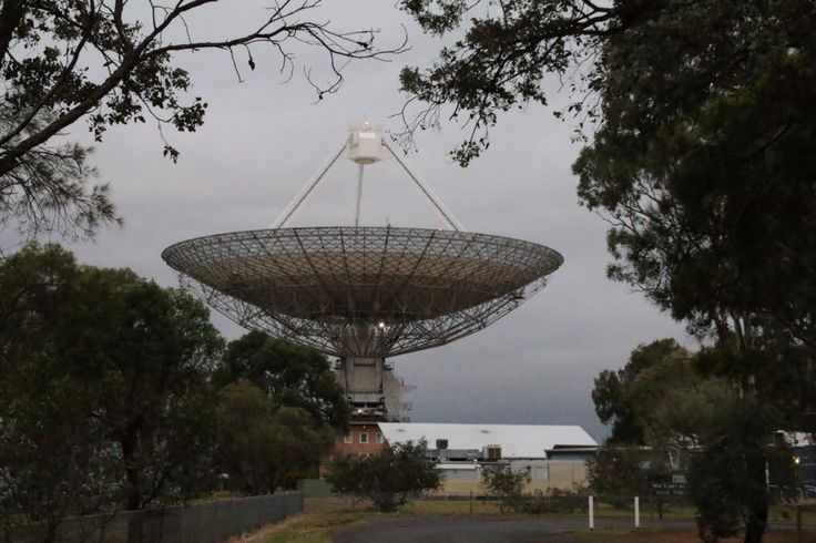 The Dish transmitting out of this world.