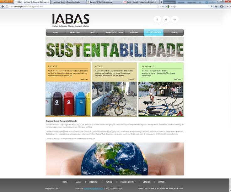 """""""home"""" da sustentabilidade"""