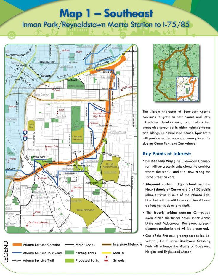 Atlanta BeltLine Maplets Atlanta beltline