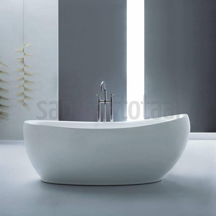 25 beste idee n over vrijstaand bad op pinterest badkamer kuipen vrijstaande badkuip en bad - Afbeelding voor badkamer ...
