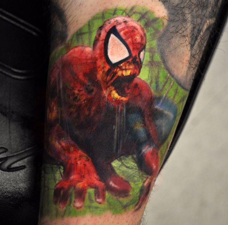 Art style Spiderman/Venom | ★ Spiderman Tattoos ...
