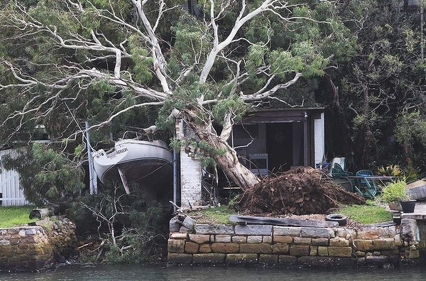 Damage to a waterfront property at Neutral Bay, Sydney, Australia. Photo: Ben Rushton (Feb 25, 2013)