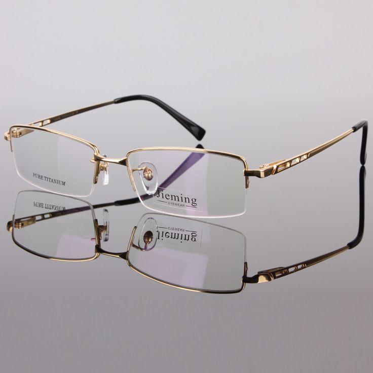 Men's fashion eyeglass gold frame ultralight titanium frames eye glasses frames for men optical frame 8253
