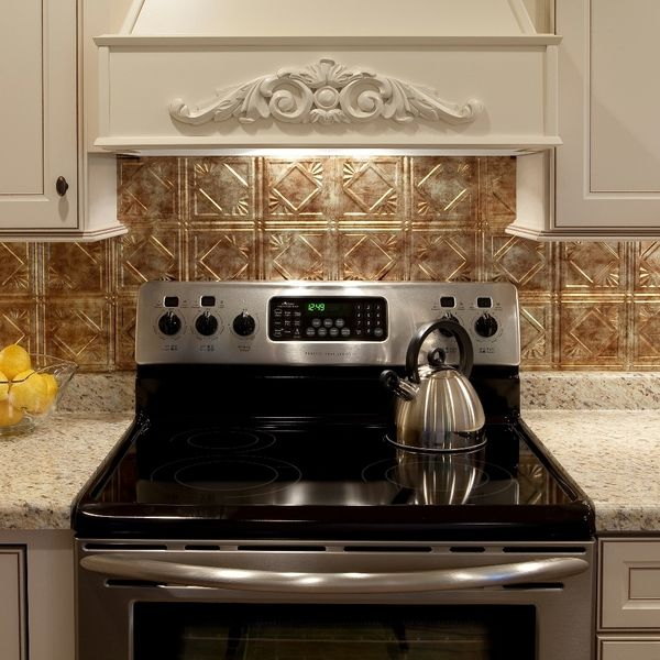 Kitchen Tiles Square: Fasade Traditional Style #4 Backsplash In Bermuda Bronze