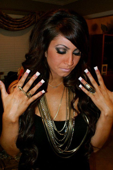 I almost want to get my nails done like hers ; I love them& the show jerseylicious.