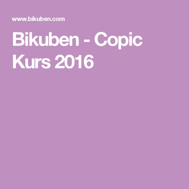 Bikuben - Copic Kurs 2016
