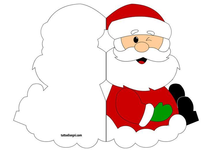 Biglietto di Natale con Santa Claus - Tutto Disegni