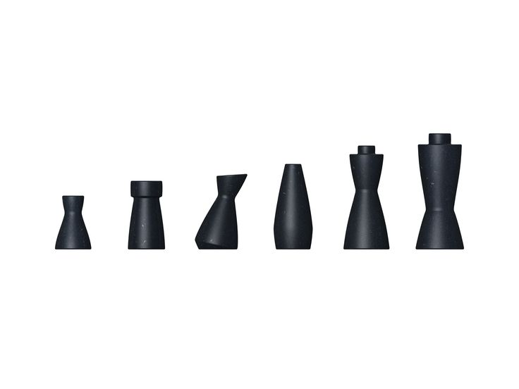 Chess pieces made of Naturalia by PeLi design.
