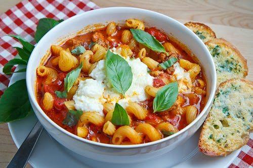 Lasagna Soup - I so want to make a vegetarian version of this