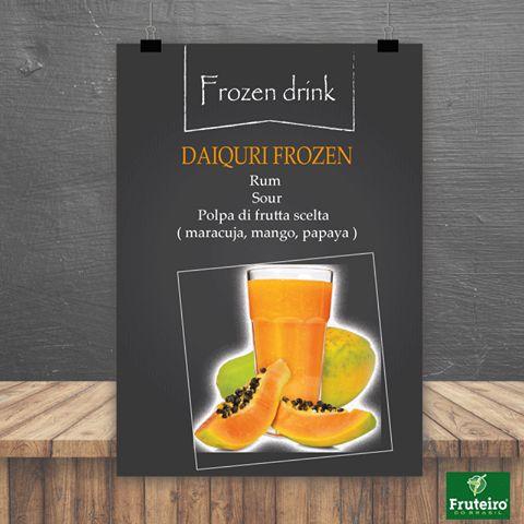 Prova anche tu il nostro cocktail DAIQUIRI FROZEN alla papaya dove trovi dolcezza e la delicata fragranza del frutto Scopri la nostra frutta per il benessere www.fruteiro.it/frutti-tropicali-brasiliani #Fruteiro #frozendrink