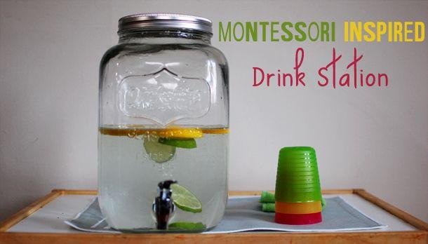 Harvesting Kale: Montessori Inspired Drink Station