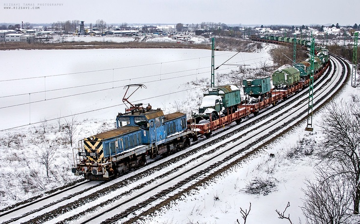 Special military cargo, on railway of course - at Maglód
