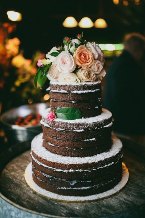 sweet treats   naked cake   via: the lane