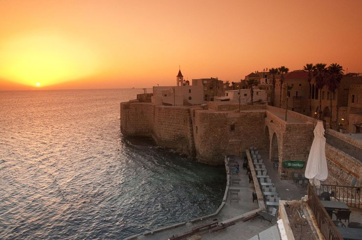 The harbor of Acre at sunset.  https://500px.com/photo/72017927/acre-harbour-by-photostock-israel