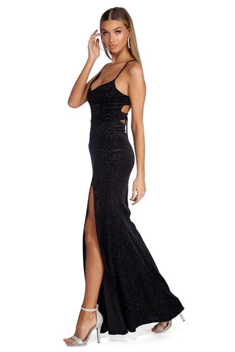 90c6b8968cc4 Lorraine Formal Glitter Velvet Dress in 2019 | My work - Special ...