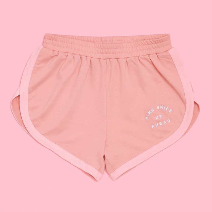 trust us, there are pinker skies up ahead (right after you finish your workout!!). we did a li'l exclusive with our friends over at camp collection to offer you the cuuutest gym shorts you ever did see! we were inspired by vintage P.E. uniforms—now if we could only go back in time and convince our P.E. teachers to make these mandatory...