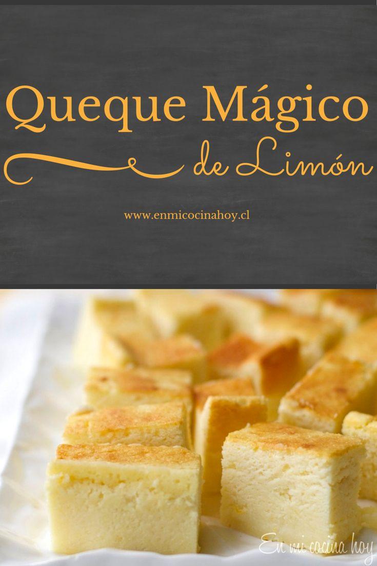 Prueba esta receta que seguro te sorprende: el batido se separa en el horno en este queque mágico de limón.