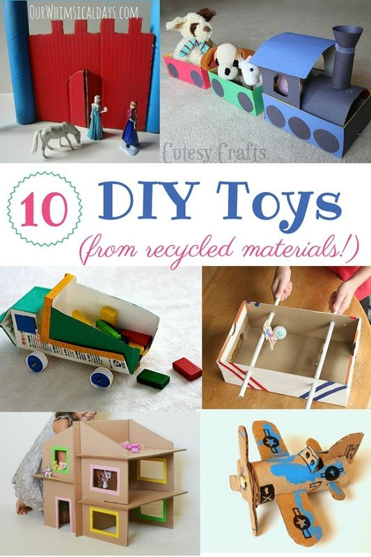 318 best homemade toys images on pinterest crafts for for Diy from recycled materials