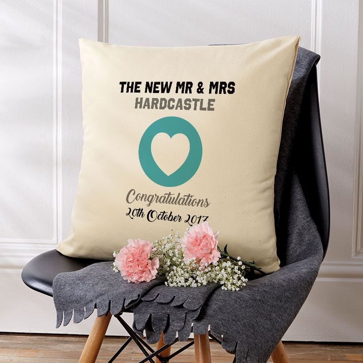 Personalised Wedding Cushion Gift Idea. Beautiful 💕 Personalised Word Cushions & Pillows. Easy to Create & Preview On Screen Before You Buy. Fast Free Delivery. A perfect gift for any occasion. www.chatterboxwalls.co.uk  #wordart #typography #personalisedcushions #cushions #interiordesign