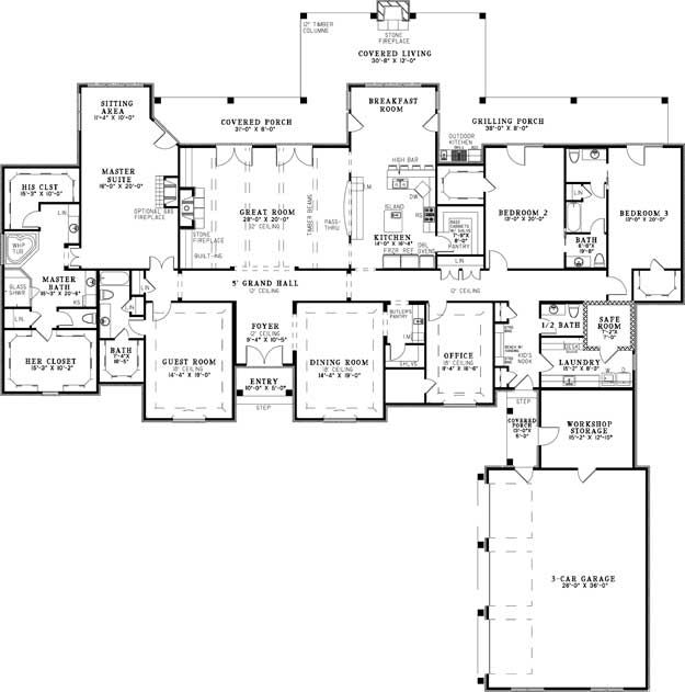 1st Floor Sunroom To Deck Over Walkout Basement: House Plans, Home Plans And Floor Plans From Ultimate