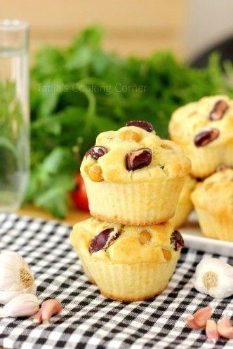Garlic Chickpea Muffins with Cheese/ Muffini