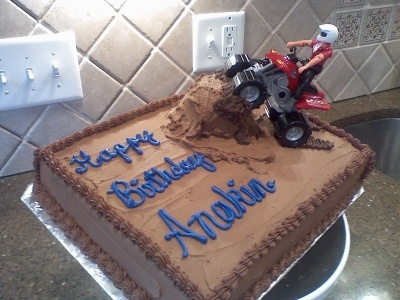 Four Wheeler cake By Country_girrl on CakeCentral.com