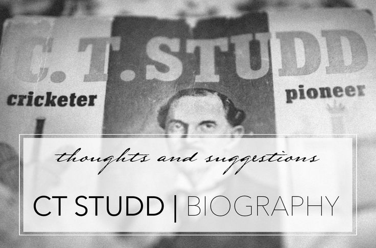 Book review of C.T. Studd: Cricketer, Pioneer.