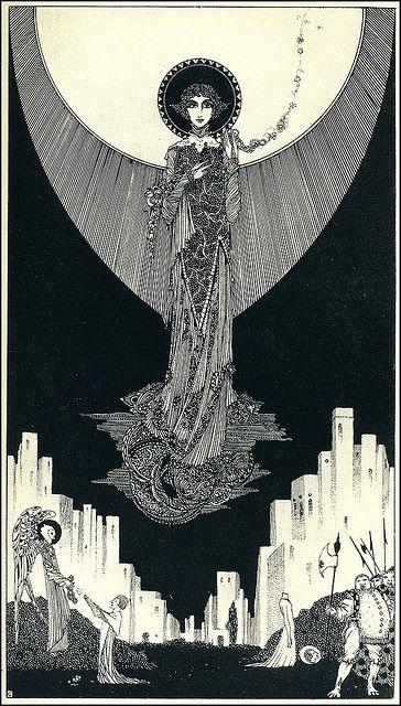 St. Dorothy, by Harry Clarke (1889–1931), from Selected Poems of Swinburne, 1928