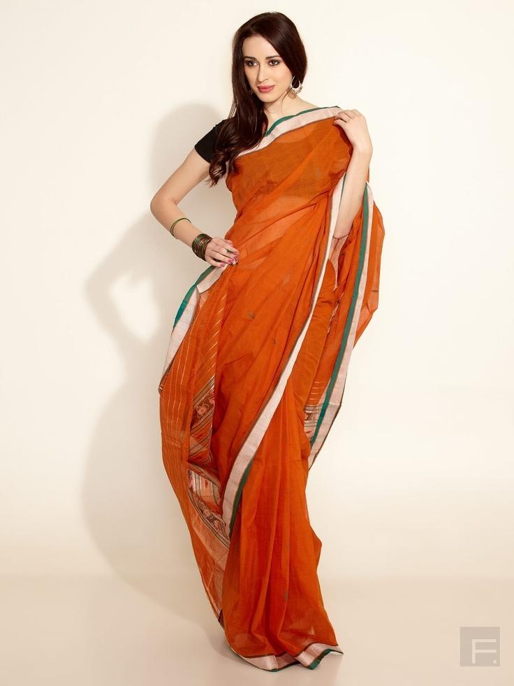 FabIndia // Cotton Ikat Woven Sari
