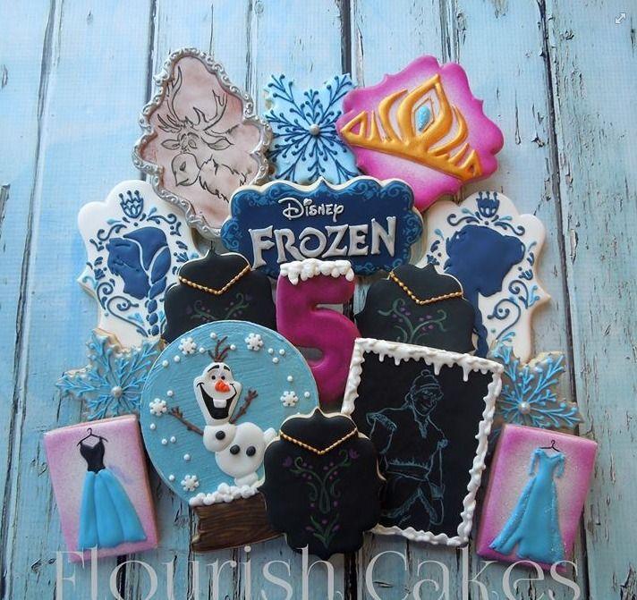 Gorgeous Disney Frozen cookies