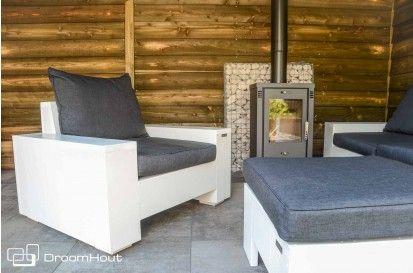 Steigerhouten loungestoel Siena