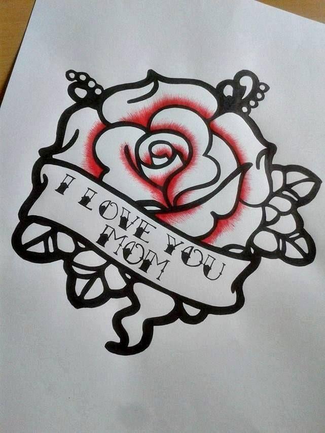 #rose #tattoo #necktattoo #rosetattoo #iloveyoumom #blackandredtattoo #tattooidea