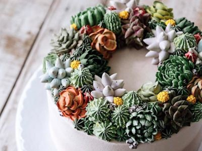 These Gorgeous Succulent Cakes Are a Plant-Lover's Dream Come True | SouthernLiving | #cakes #uniquecakes #food #party #cakedecorating