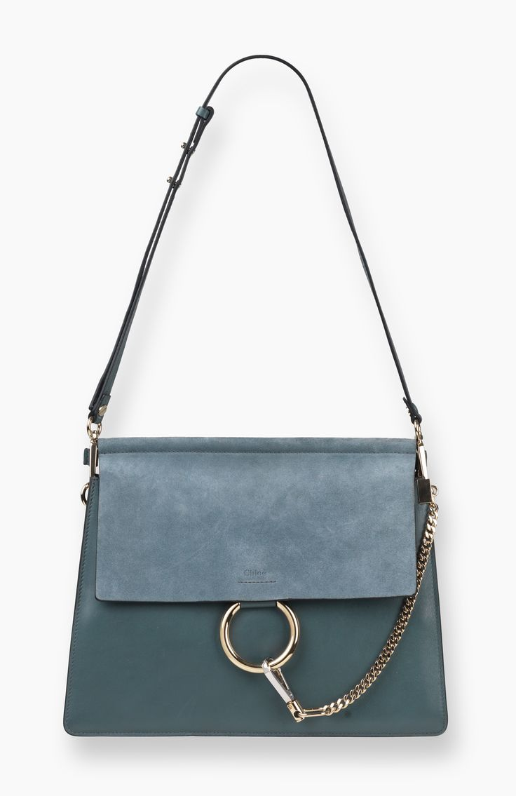 FAYE BAG IN SUEDE CALFSKIN AND SMOOTH CALFSKIN 3S1126-H2O-BFC