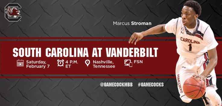 South Carolina Gamecocks Travel To Vanderbilt On Saturday - http://www.beachcarolina.com/2015/02/06/south-carolina-gamecocks-travel-to-vanderbilt-on-saturday/ COLUMBIA, SC Feb. 6, 2015 – South Carolina travels to Vanderbilt on Saturday, facing its former SEC East foe for the first time in Nashville since March 2013. Saturday's game will be broadcast on FSN with Pete Pranica (pxp) and Sean Tuohy (analyst) on the call. The Gamecocks are... Beach Carolina Magazine