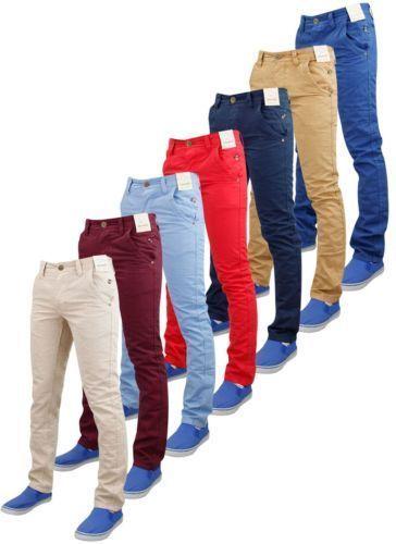 Nuove Da Uomo Di Marca Jacksouth Slim Skinny Chino Pantaloni A Sigaretta Cotone