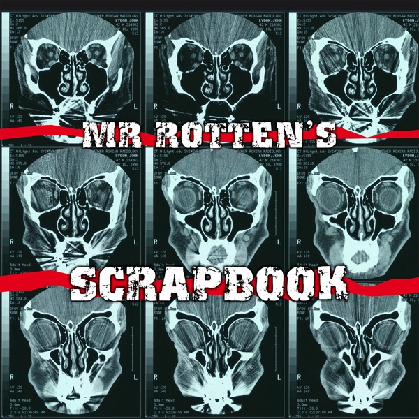 """Johnny Rotten (John Lydon of The Sex Pistols) has a new, giant scrapbook?.....now THIS ought to send the """"Glitter Scrapbook Makers"""" screaming from the room....."""