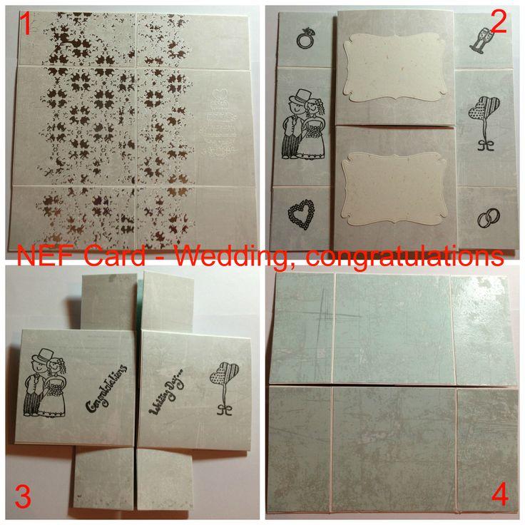 Never Ending Folding Card Congratulations - Wedding