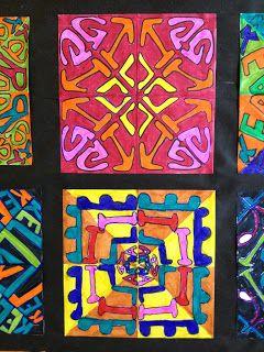 Time for Art!: Radial Symmetry Name Designs