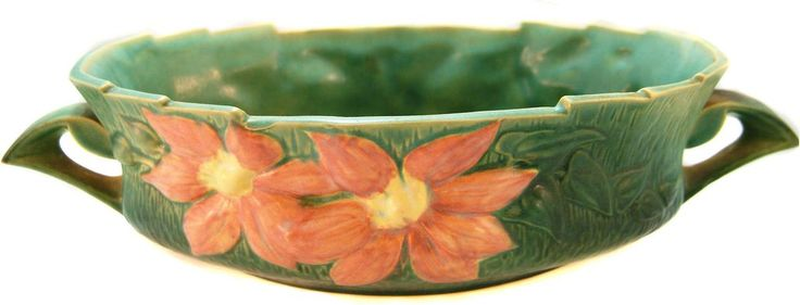 Large Roseville Pottery Bowl from aa1antiques on Ruby Lane