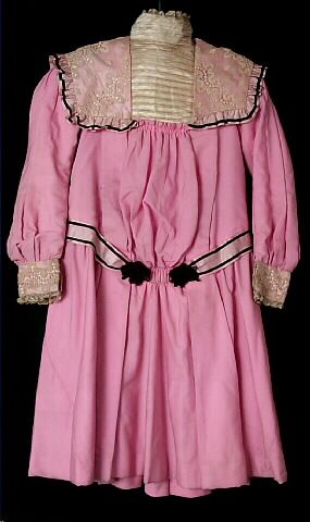 """A dress ca. 1900-1901 from the Wisconsin Historical Museum's Children's Clothing Collection. This is the dress American Girl Doll Samantha Parkington's """"Talent Show Dress"""" is based upon."""