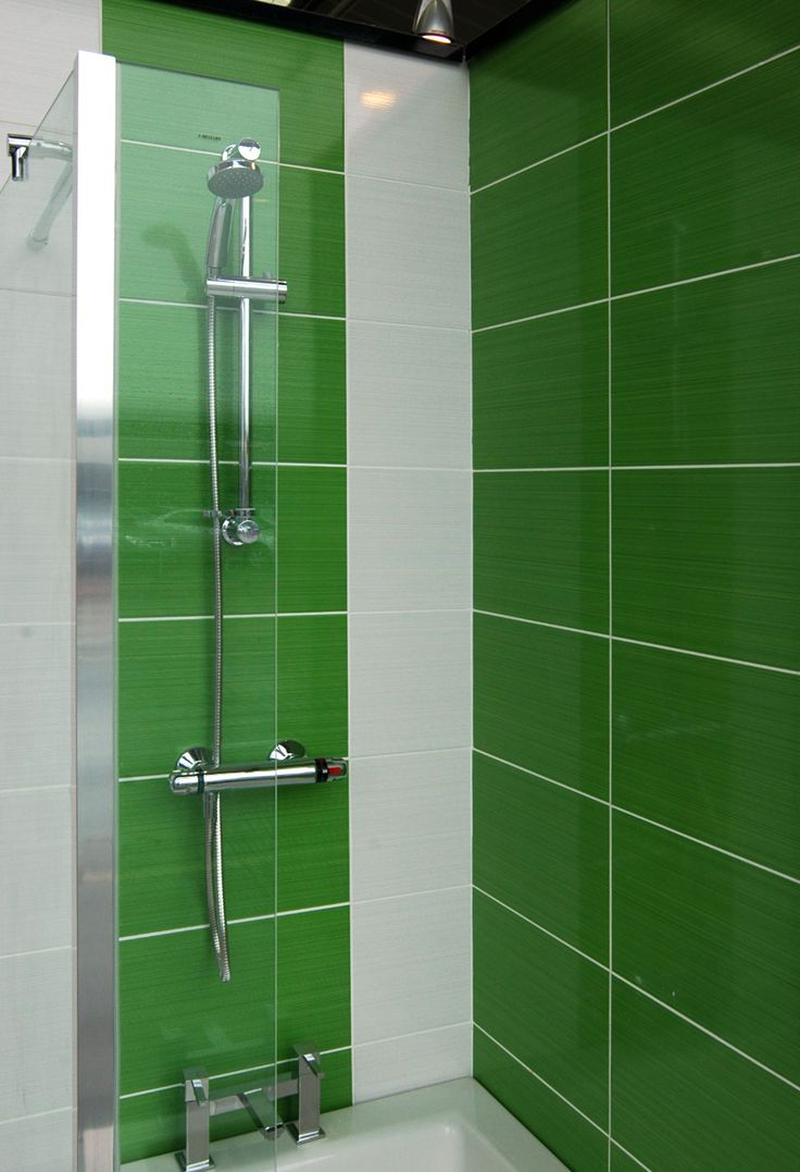 Brighton Green 24 8x39 8cm Gloss Wall Tile By British