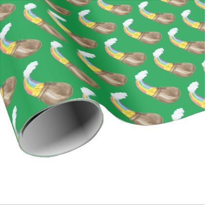 Rainbow Pot of Gold Wrapping Paper  $15.80  by totallypainted  - cyo customize personalize unique diy idea