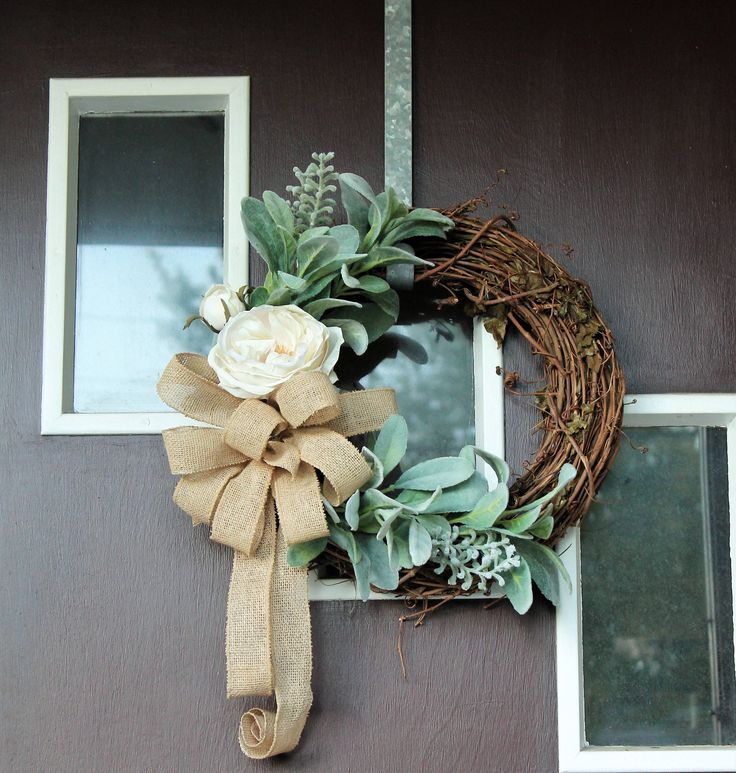 Farmhouse wreath for front door summer wreath for front