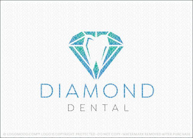 Diamond Dental Readymade Logos For Sale Dental Logo Design Dental Logo Dental