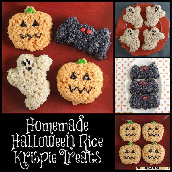 There is nothing tricky about this easy slow cooker recipe for Homemade Halloween Rice Krispie Treats. Make a couple of batches of these spooky little guys as Halloween draws near, and your house will be the talk of the town.