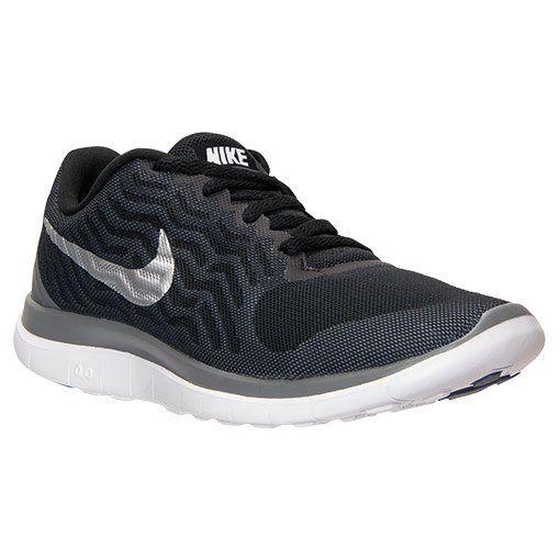 0adb0893b164 2018 Authentic Nike Free 4.0 V5 Black Metallic Silver Cool Grey 718412 010